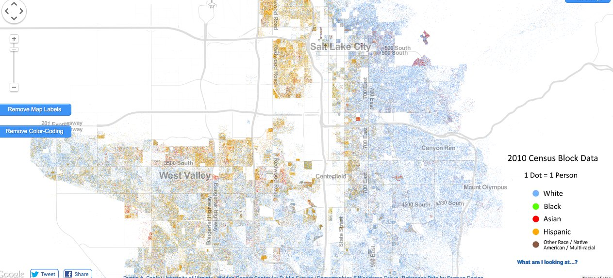 Incredibly Detailed Map Shows Race Segregation Across America In