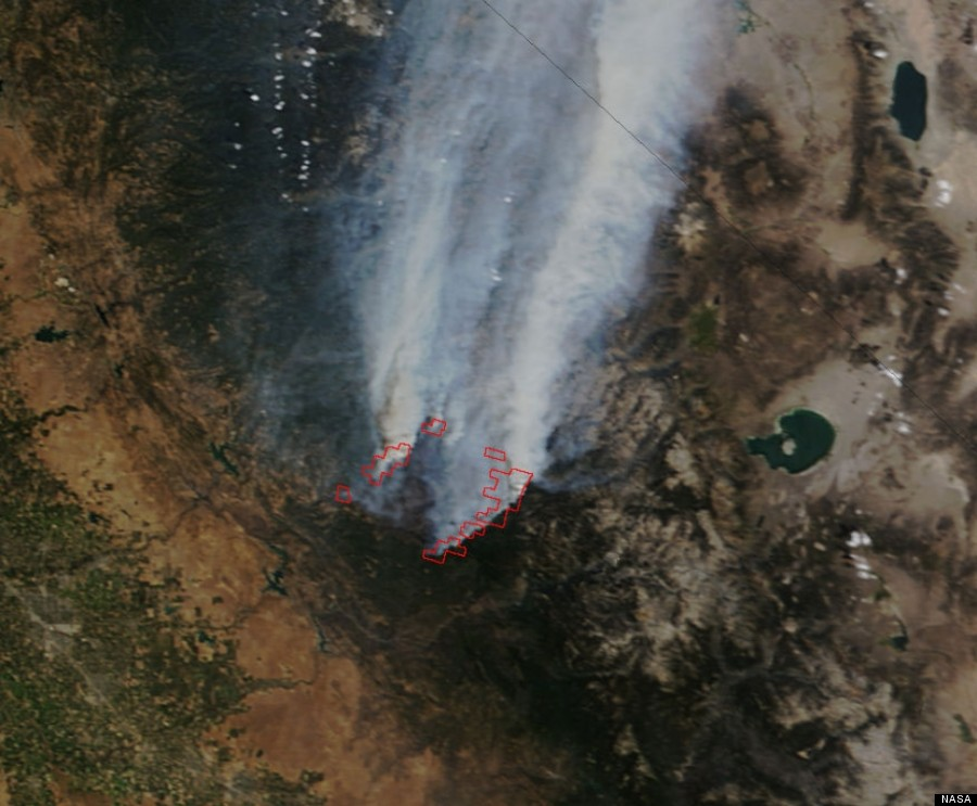 LOOK: The Yosemite Fire From Space