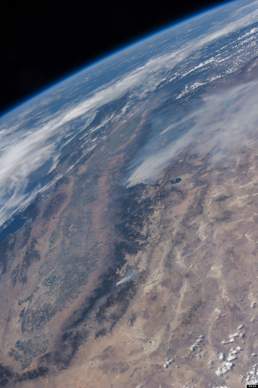 Yosemite Fire From Space Photos Released By Nasa Huffpost