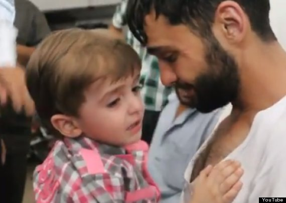 syrian father reunited with son