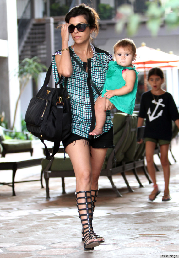 How Kourtney Kardashian Came To Be One Of The Most Stylish Moms In Hollywood Huffpost
