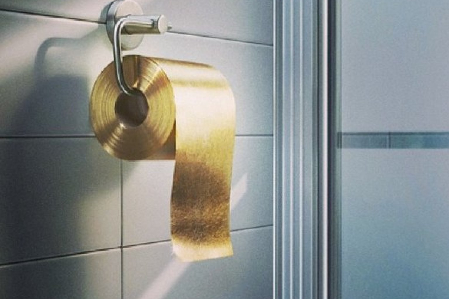 Coloured Toilet Paper Photo of Gold Toilet Paper