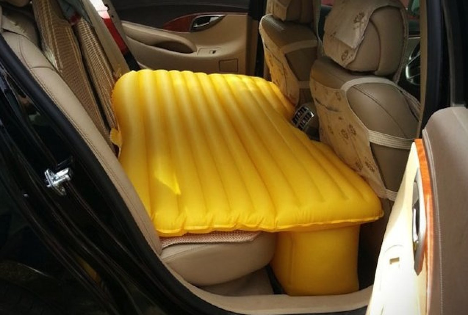 Backseat Inflatable Bed Fuloon Inflatable Car Mattress Turns Backseat Into Full Sized Bed