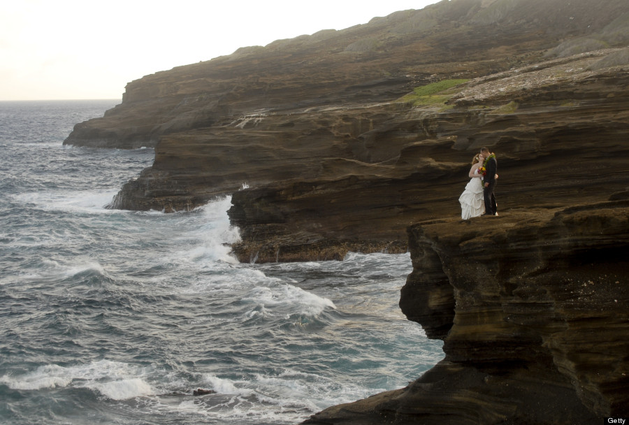 cliff wedding