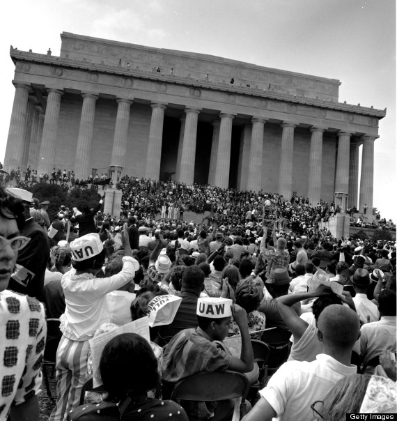 at the lincoln memorial during march on washington