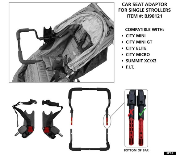 Baby Jogger Car Seat Adaptors For Strollers Recalled