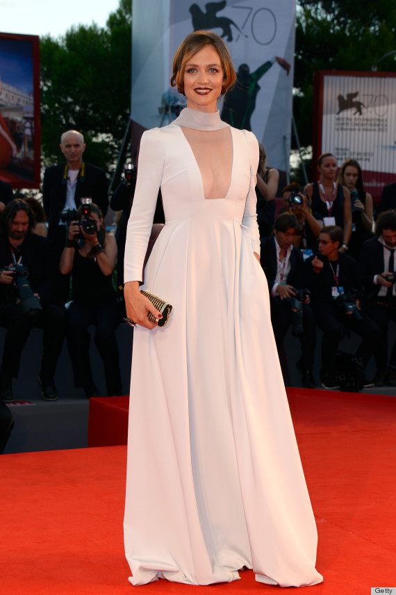 Francesca Cavallin S Venice Film Festival Dress Is Sheer