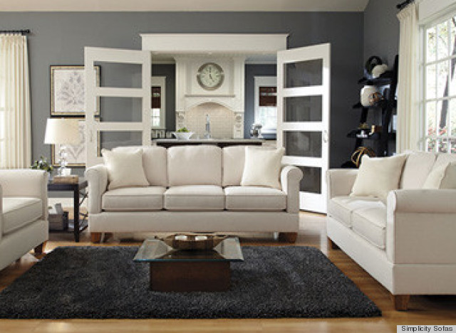 6 couches for small apartments that will actually fit in your space photos huffpost - Apartment size living room furniture ...