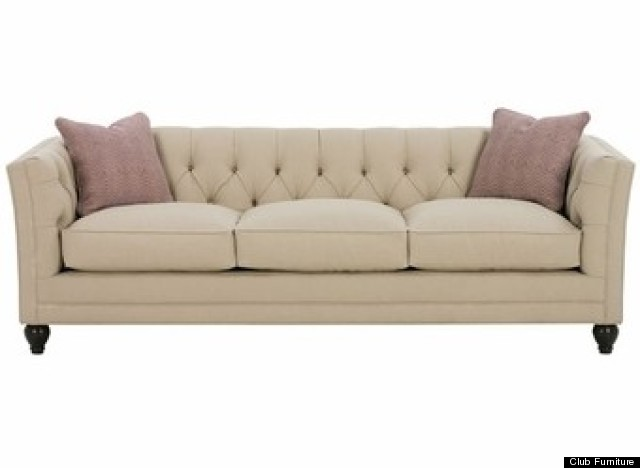 small bedroom couch. Though a little more expensive  at sale price of 1 192 you can customize this tufted back sofa Note Club Furniture shows the three cushion for 6 Couches For Small Apartments That Will Actually Fit In Your