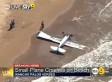 Plane Crashes Onto Beach In Rancho Palos Verdes, Pilot Injured (VIDEO, UPDATES)
