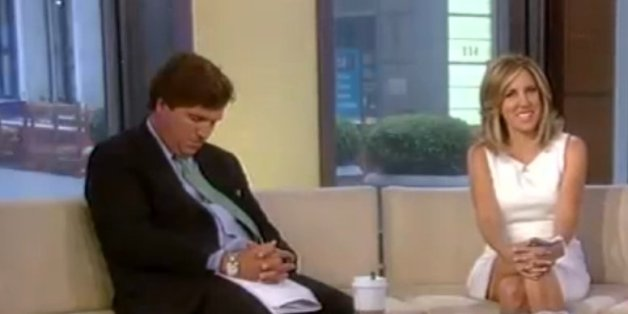 Tucker Carlson Falls Asleep On 'Fox & Friends' (VIDEO)