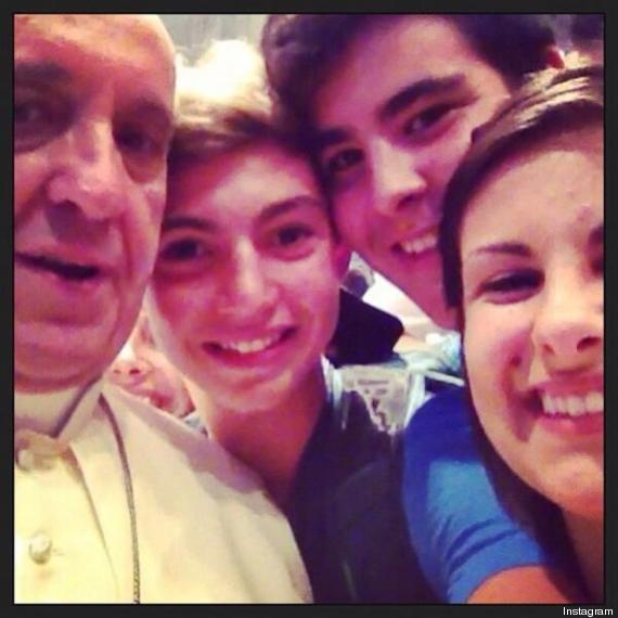 selfie pape francois