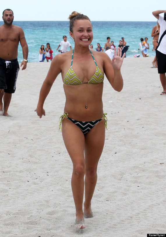 Hayden Panettiere Soaks Up The Miami Sun In A Bikini