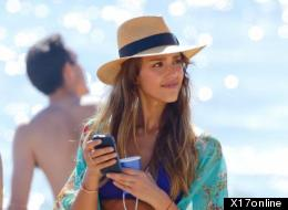 Jessica Alba Sizzles In Purple Bikini