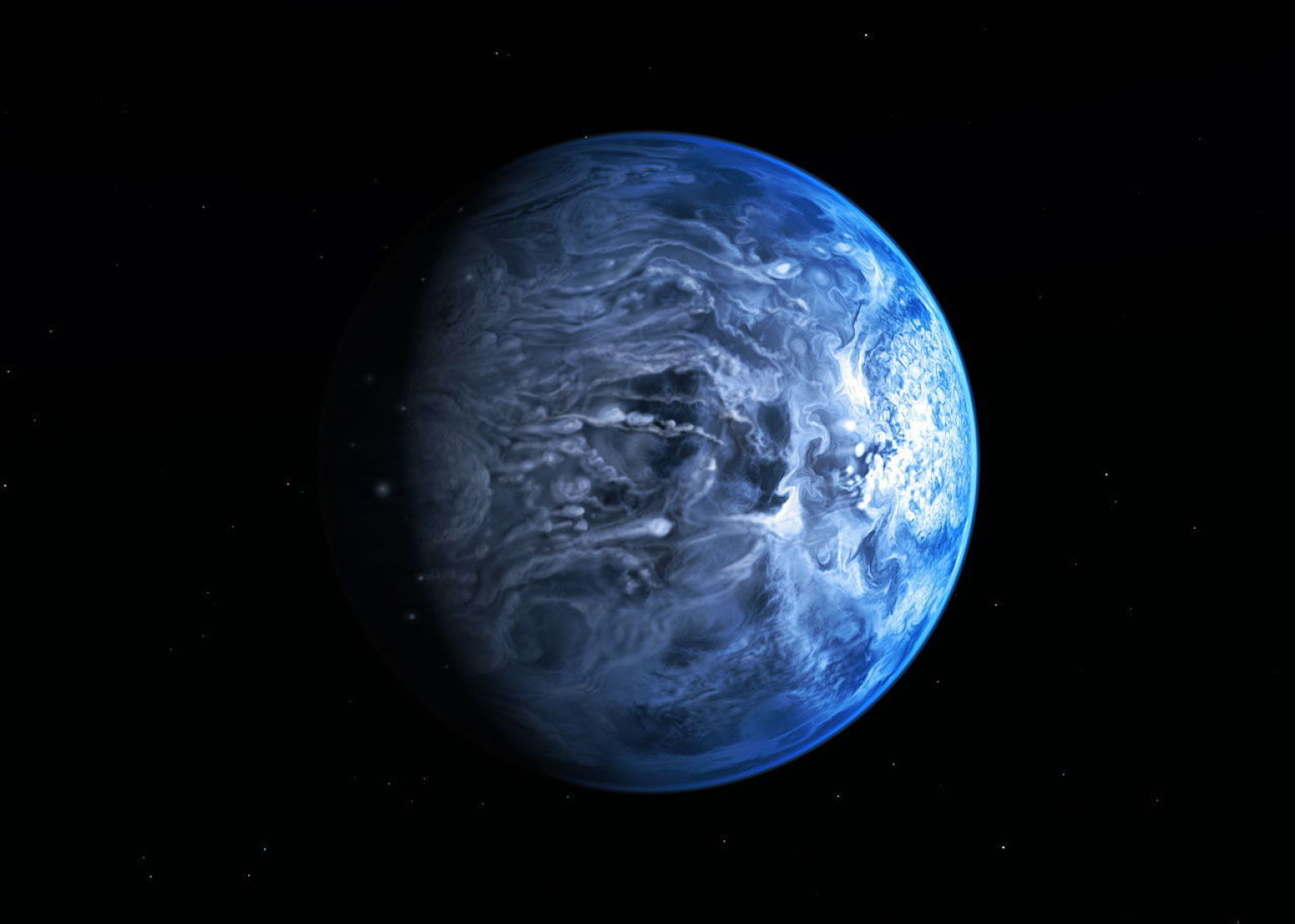 Blue Alien Planet Has Molten Glass Rain & Unusual ...