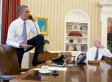 Image of President Obama in Oval Office triggers outrage