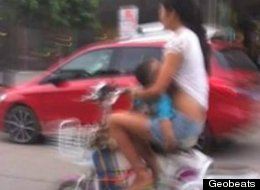 Breastfeeding On Moped