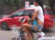 Woman Pulled Over For Breastfeeding On A Moped