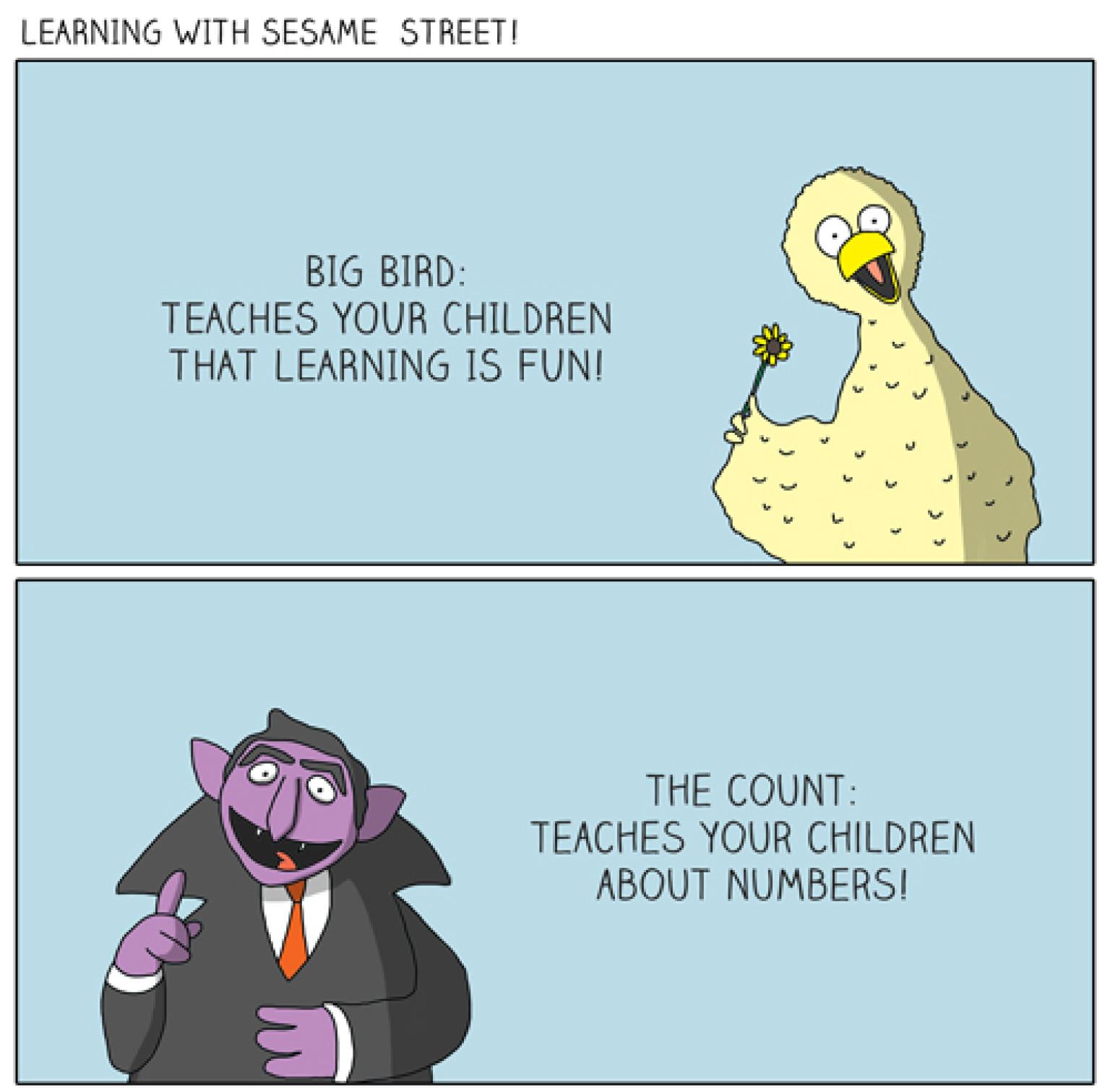 Sesame Street Lessons Aren T All Sunny Comic Huffpost