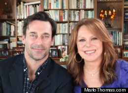 Jon Hamm, Marlo Thomas, Mad Men, movie stars, television stars on movie stars