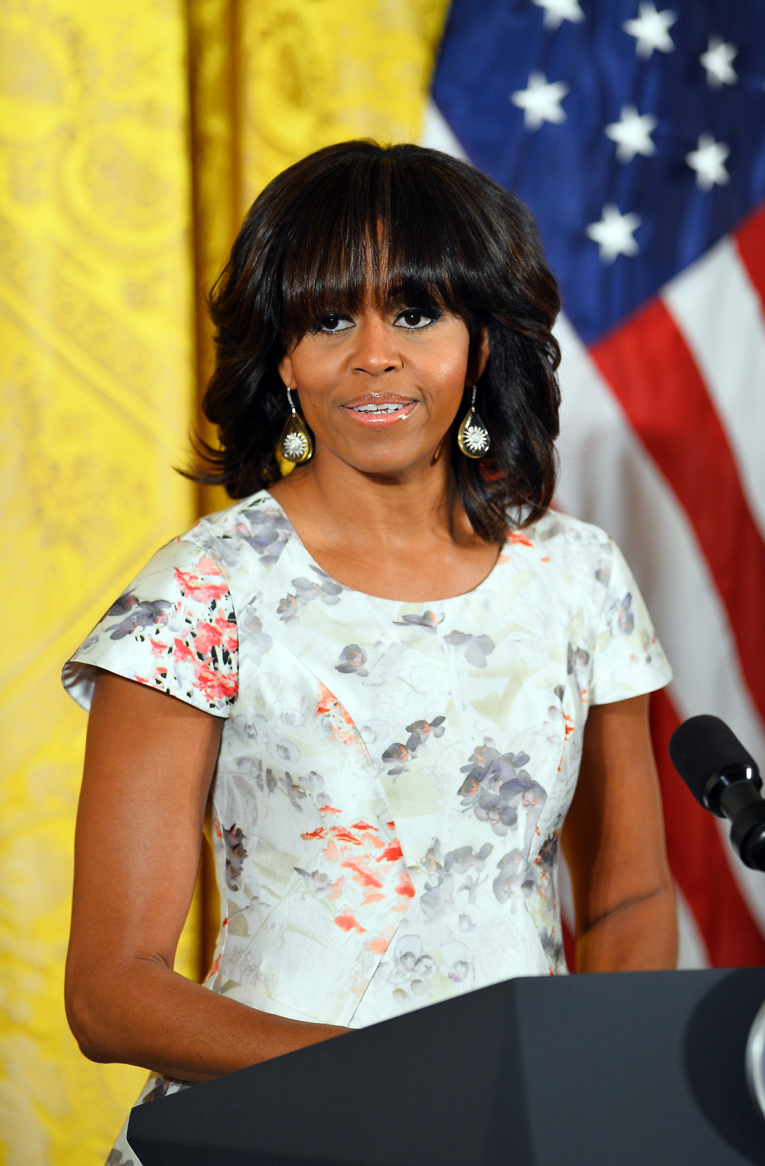 Michelle Obama Has Had Bangs Before Guys Photo Huffpost