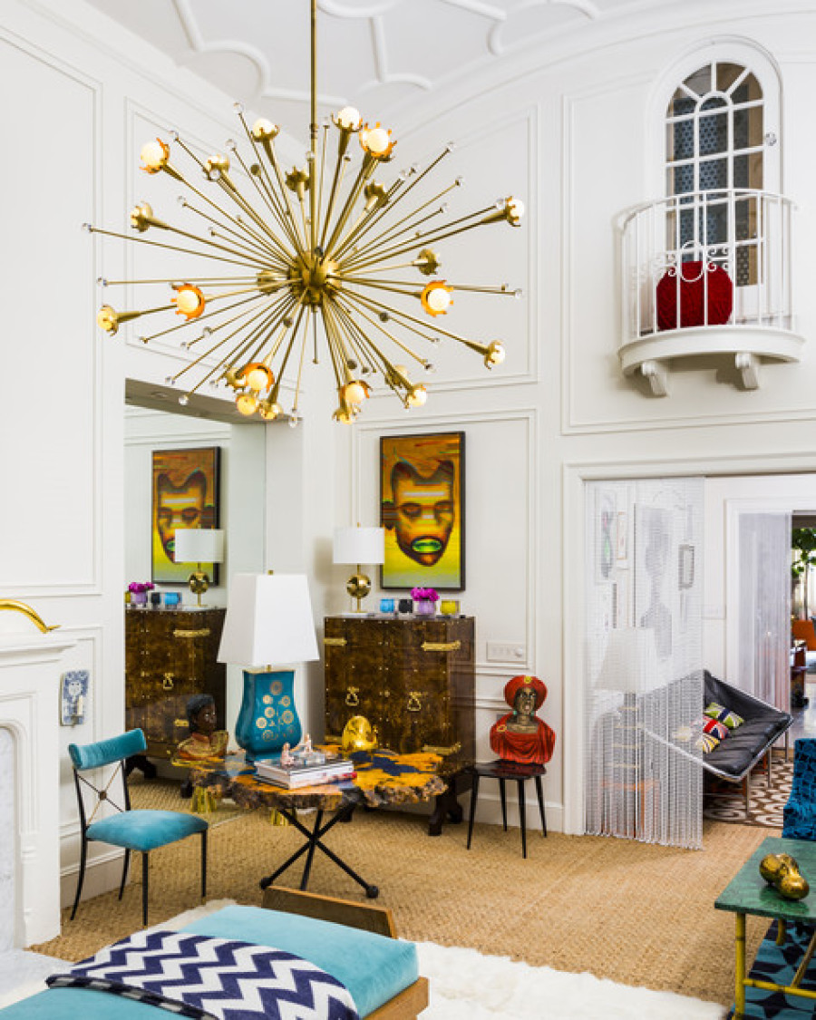 Jonathan adler and simon doonan show off their new york for Modern eclectic decor