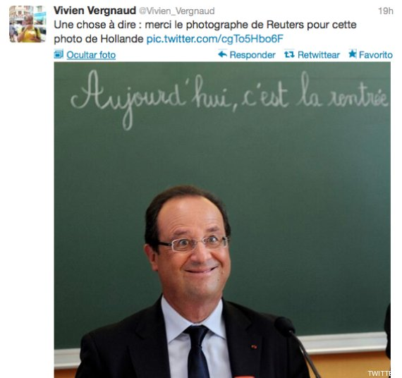 hollande cara tonto