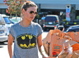 Mila Kunis Wears Skinny Jeans, Batman T-Shirt While Grocery Shopping