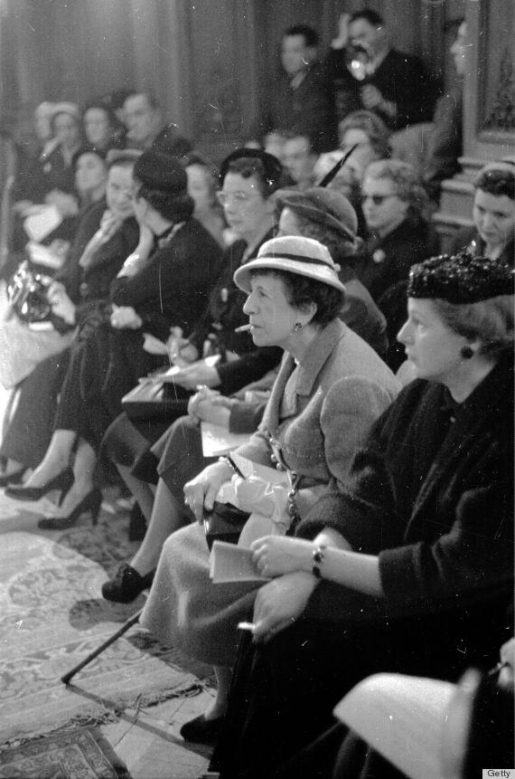 fashion shows 1950s