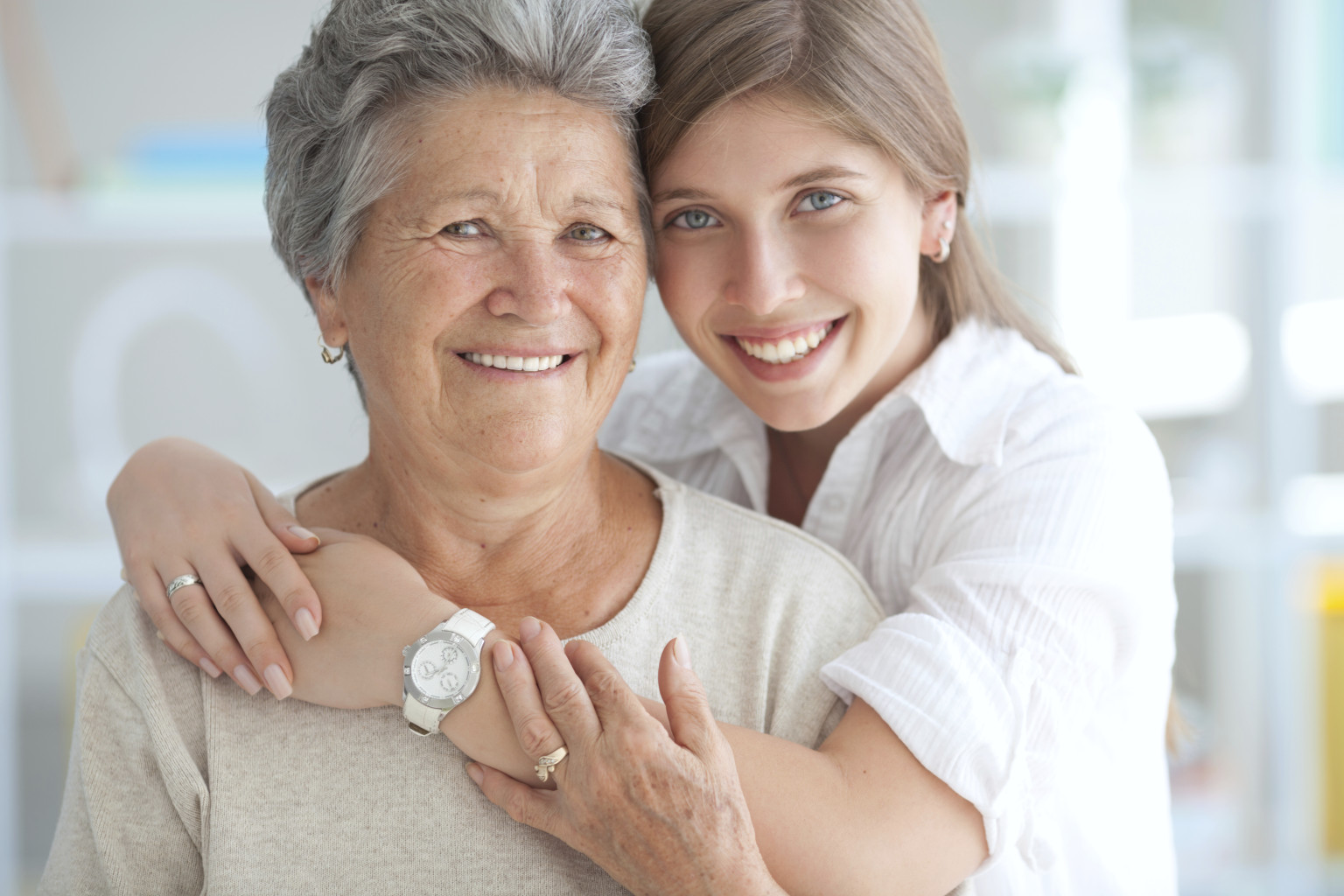 mother and grown up daughter photo ideas - My Grandmother and I
