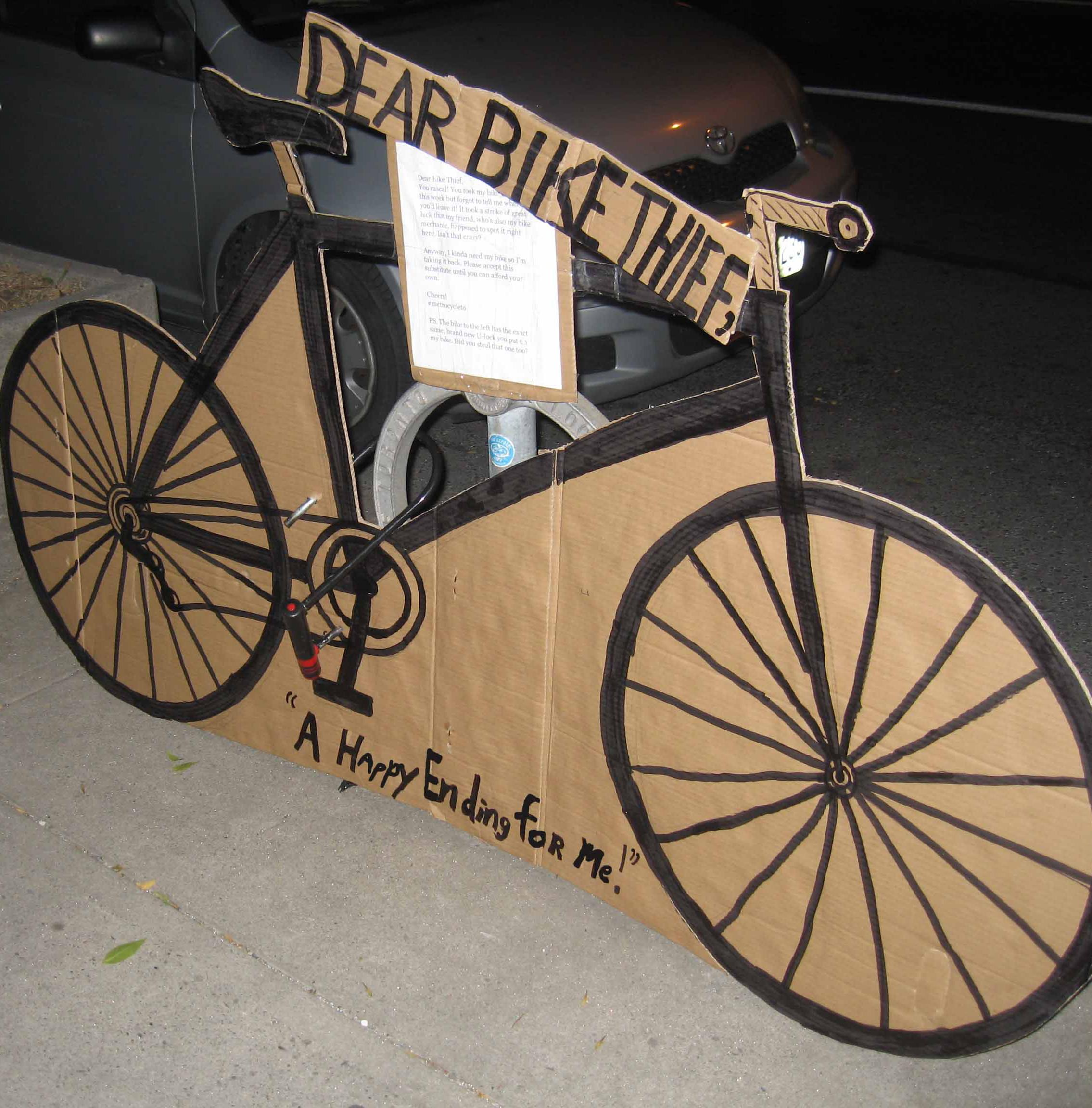 bike cardboard
