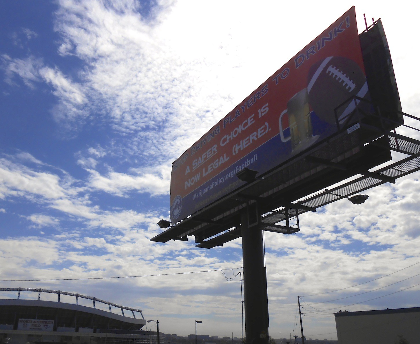 marijuana billboard nfl