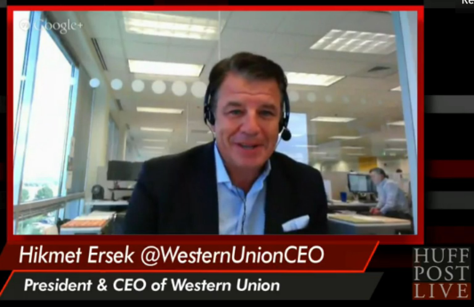 western union ceo pushes 39 work hard play hard 39 mentality video huffpost. Black Bedroom Furniture Sets. Home Design Ideas