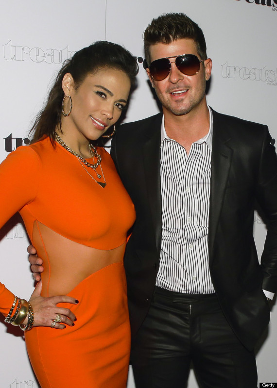 Robin Thicke, Paula Patton Spotted Getting Cozy At Party After ...