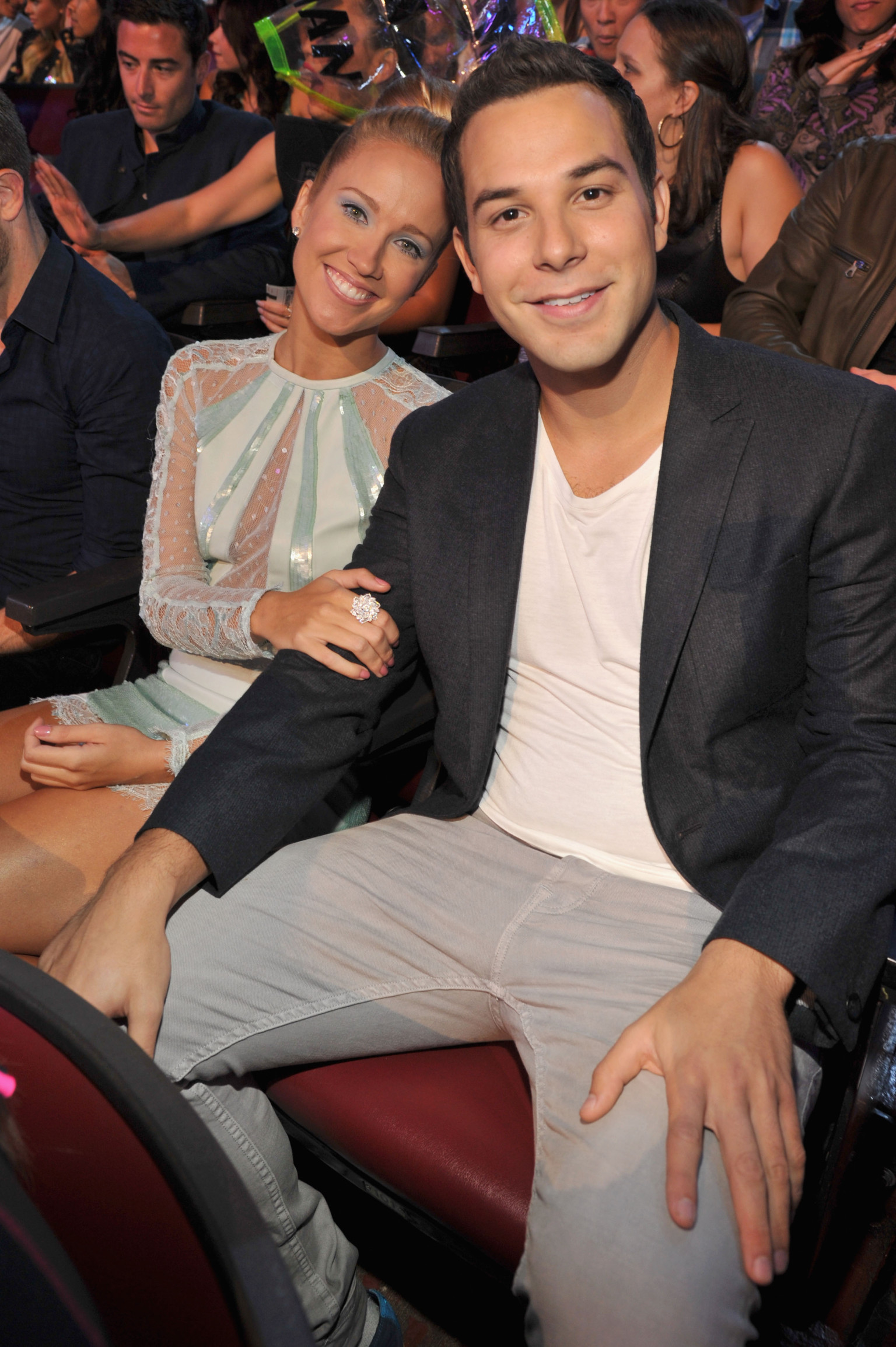 Skylar Astin with beautiful, Girlfriend
