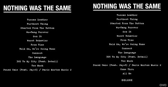Drake's 'Nothing Was The Same' Tracklist Features A