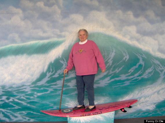 grandma surfboard
