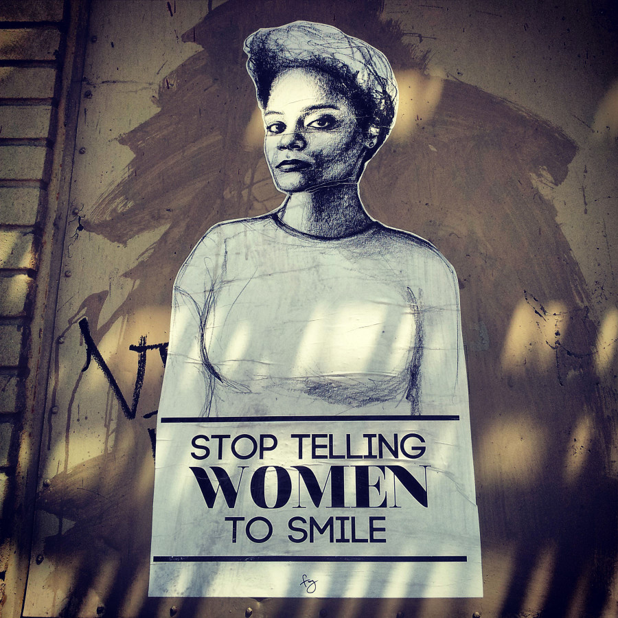 Public art project addresses gender based street harassment in a big