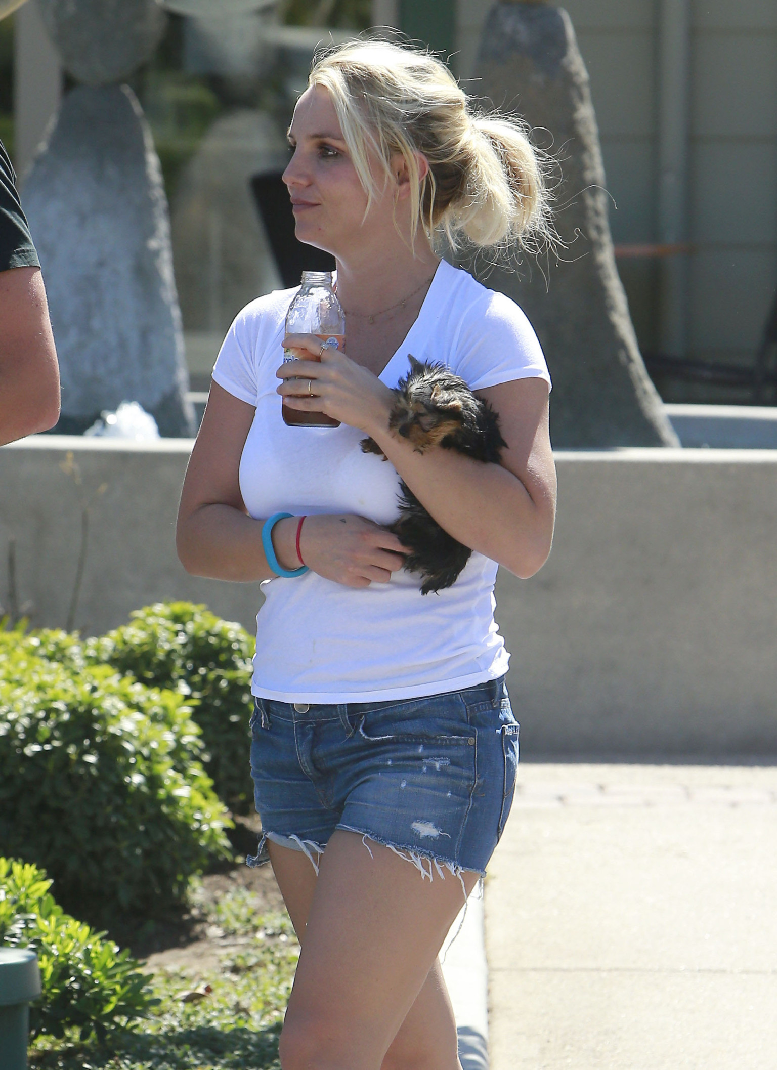Britney Spears Steps Out In Denim Short Shorts With