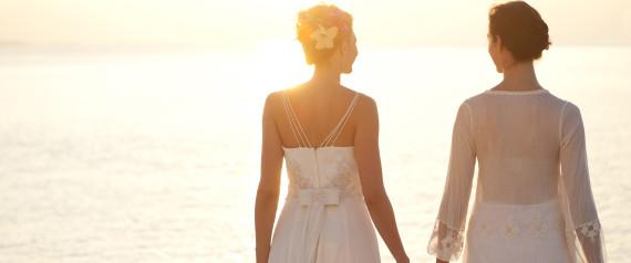 SAME SEX WEDDING BEACH
