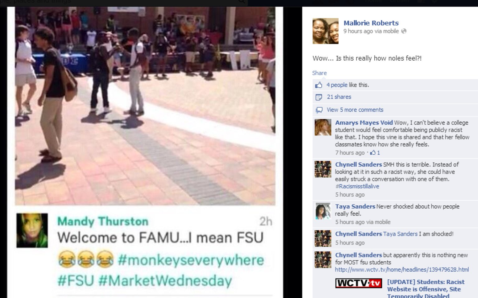 racist vine post rankles fsu campus the huffington post