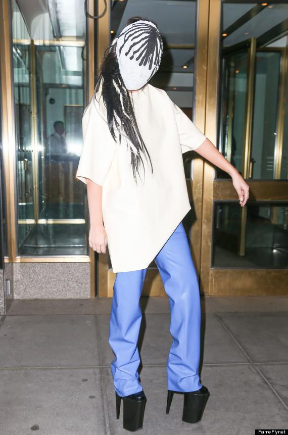 Lady Gaga Wears Bizarre Face Mask During Fashion Week In
