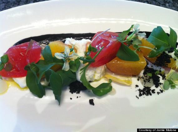 tomato peach salad