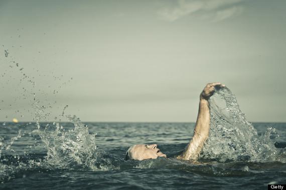 swimming in ocean
