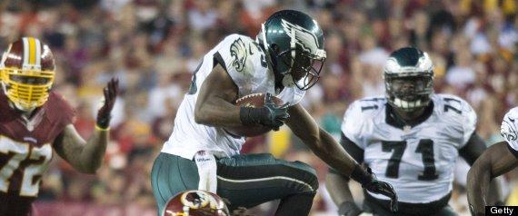 lesean mccoy touchdown eagles rb makes washington look