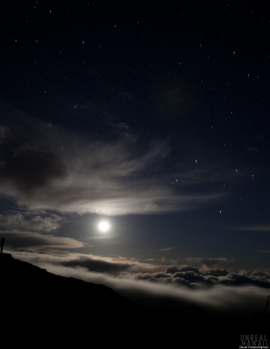 big island moonrise