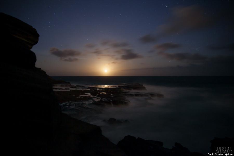 oahu moonrise