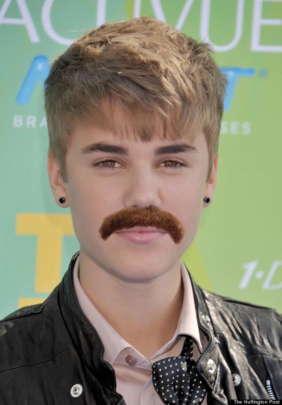 justin bieber mustaches