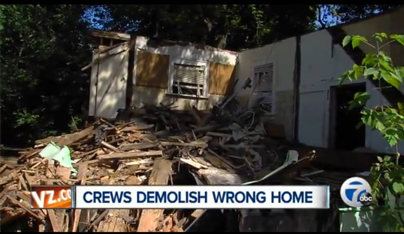 Demolition Wrong House : Wrong house demolished in michigan after man allegedly
