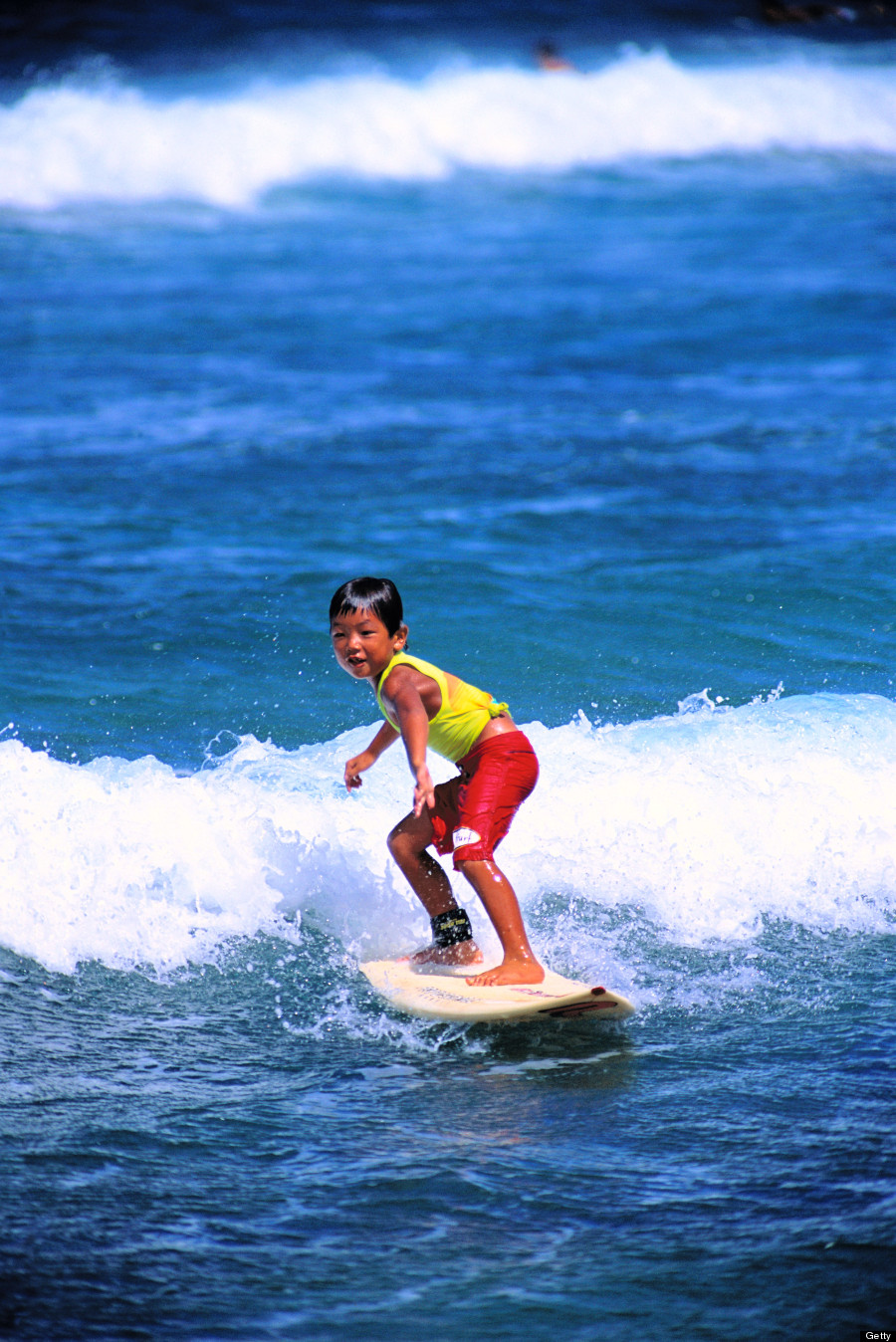surfing child